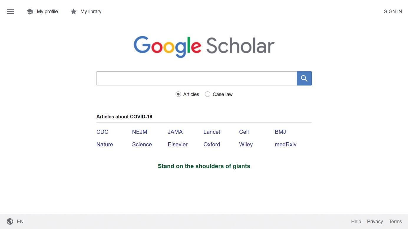 accueil google scholar